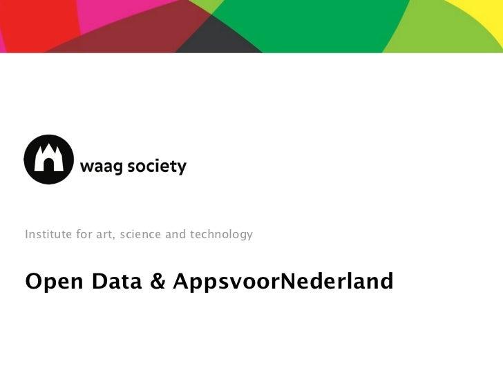 Institute for art, science and technologyOpen Data & AppsvoorNederland