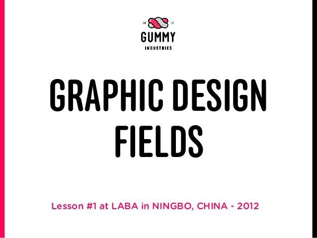 GRAPHIC DESIGN    FIELDSLesson #1 at LABA in NINGBO, CHINA - 2012