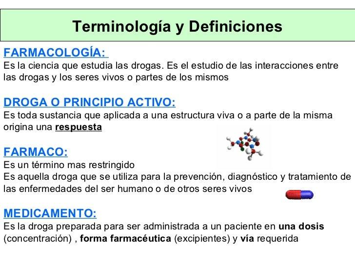 Medicamento definicion farmacologia