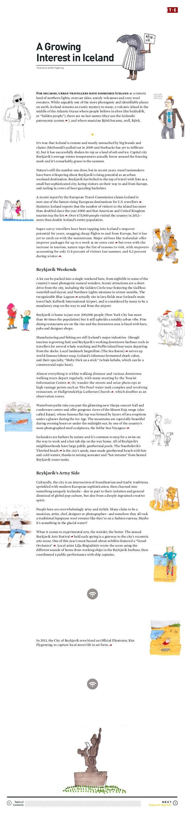 Portfolio: Story Sample from T+E Magazine: Iceland Issue (Sept. 2013)