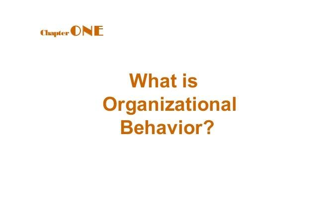 Introduction of Organization Behavior