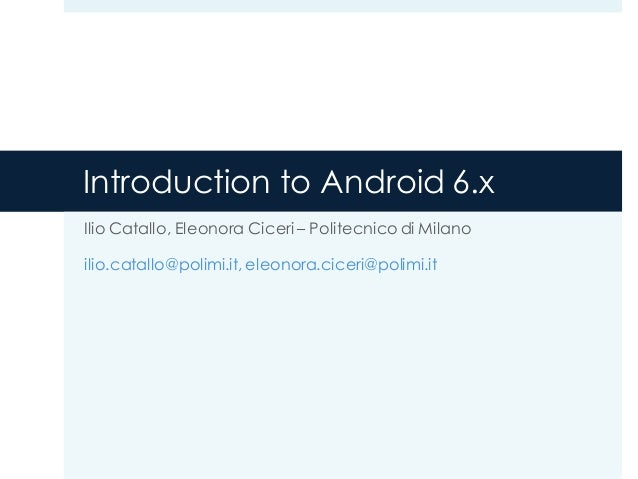 Introduction To Android 4.x