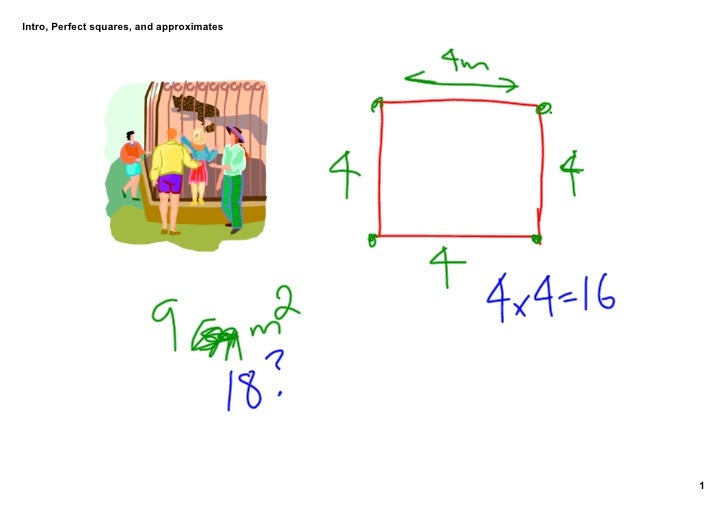 Intro,Perfectsquares,andapproximates                                                1