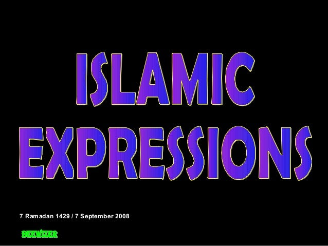 01   islamic expressions