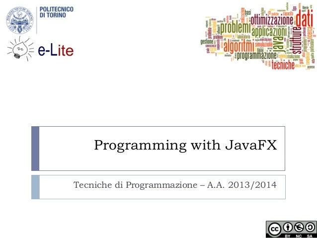 Programming with JavaFX