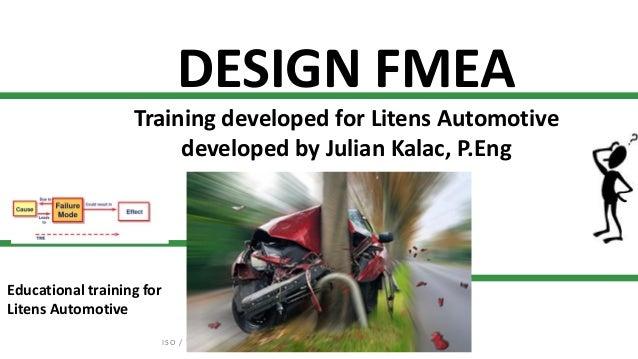 Design Fmea Training For Litens Automotive