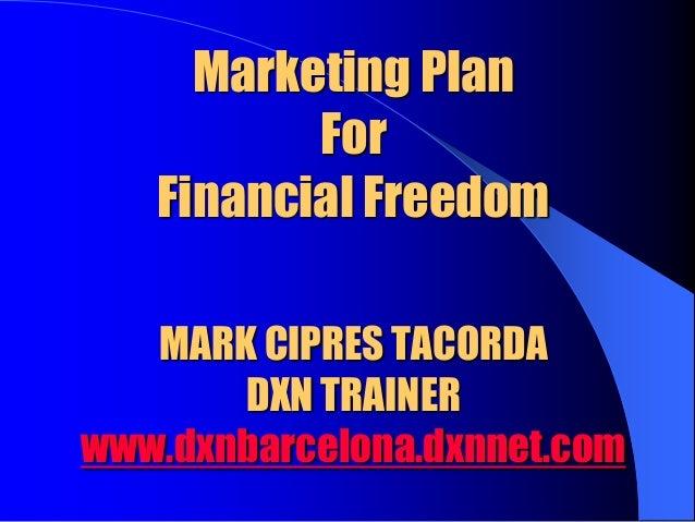 01 marketing plan for financial freedom