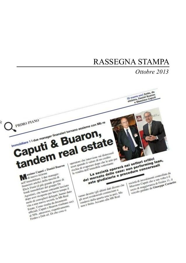 Rassegna Prelios Ottobre 2013 - Massimo Caputi Real Estate