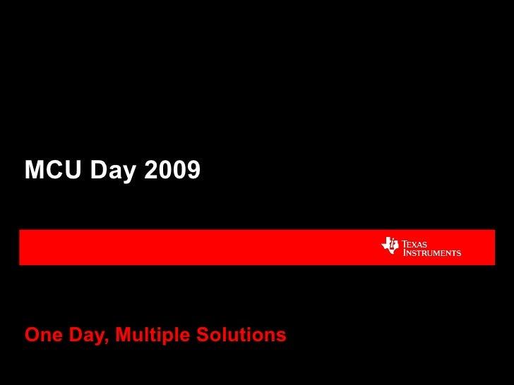 01   Mcu Day 2009 (Aec Intro) 8 6   Editado