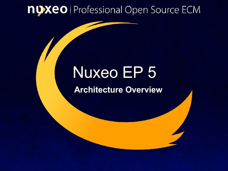 Nuxeo ECM - Architecture Overview - May 2008