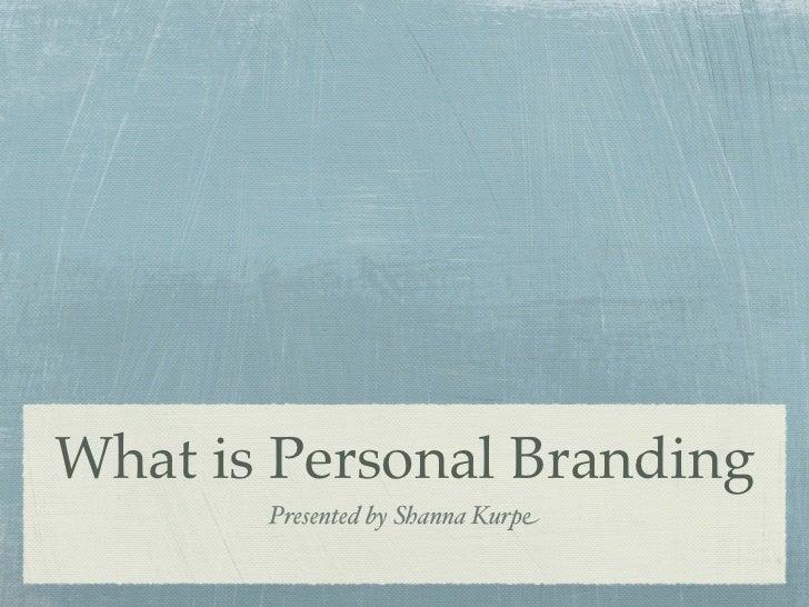 Persona Branding - Introduction