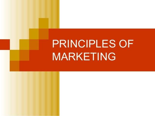 PRINCIPLES OFMARKETING