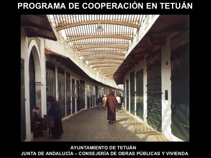 Programa de cooperación en Tetuán