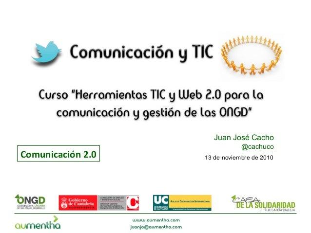 Redes Sociales, Comunicación 2.0