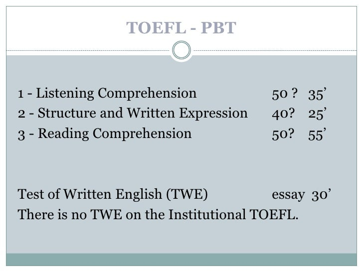 essay toefl structure Toefl ibt independent writing structure the objective of the toefl independent writing essay is to assess your ability to clearly and logically express your ideas in.