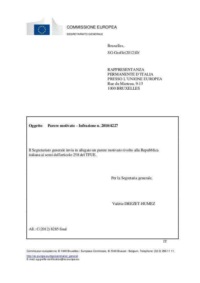 COMMISSIONE EUROPEA                                 SEGRETARIATO GENERALE                                                 ...