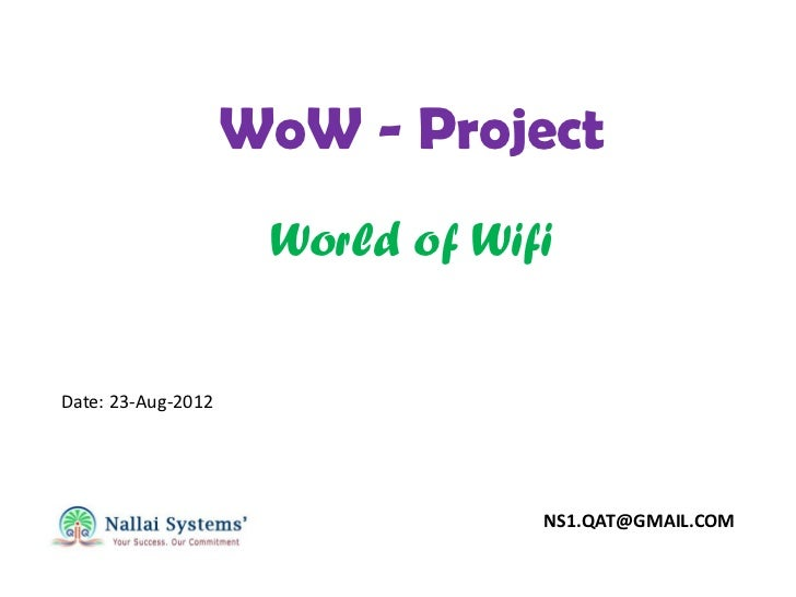 WoW Project - World of Wifi