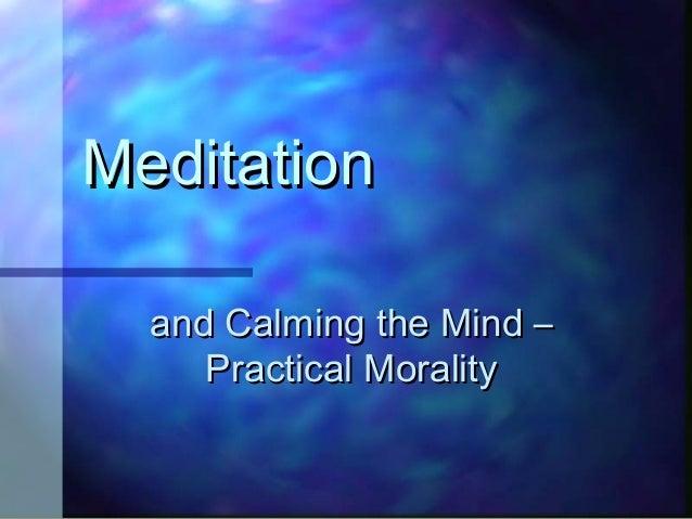 Calming the conscious mind - moral principles - yoga - Yama and Niyama