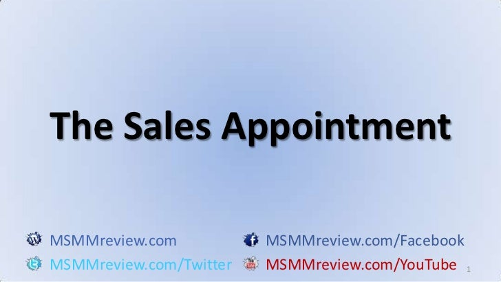 Main Street Marketing Machines 2 Fusion Training Part #10: The Sales Appointment