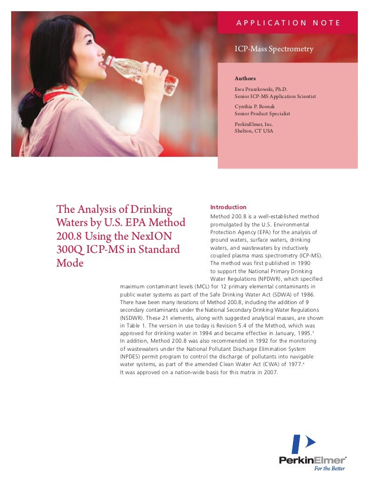 an analysis of drinking Bacteriological analysis of drinking water pages with reference to book, from 92 to 96 zumra sami (public health division.