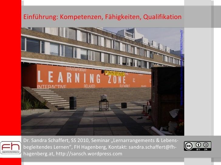 Einführung: Kompetenzen, Fähigkeiten, Qualifikation