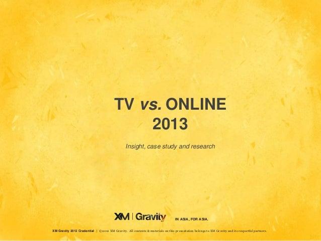 TV vs. ONLINE                                             2013                                                 Insight, ca...