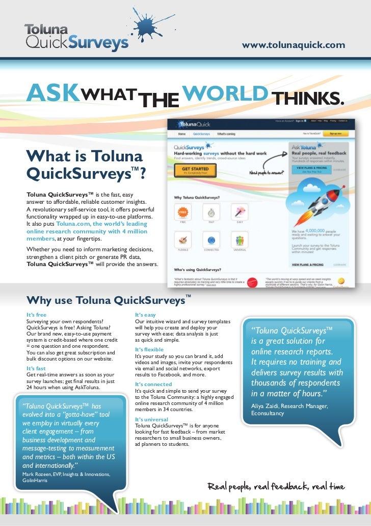 Toluna QuickSurveys brochure
