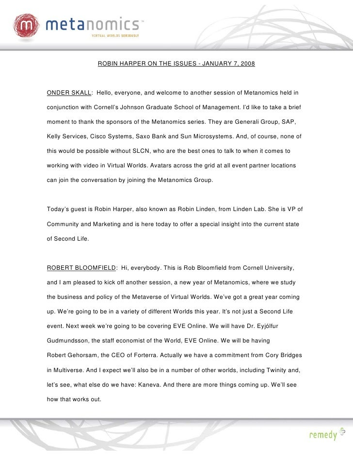 010708 Linden Marketing Metanomics Transcript