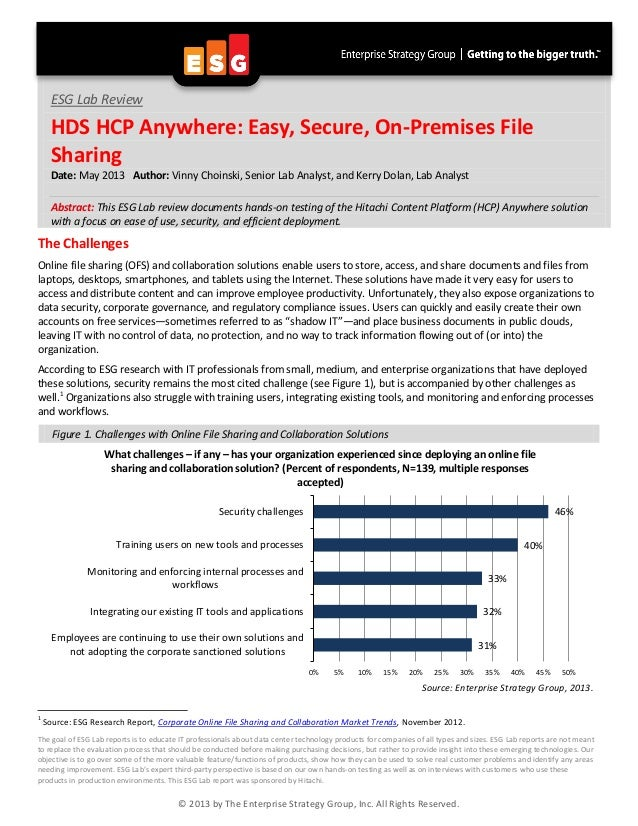 ESG - HDS HCP Anywhere Easy, Secure, On-Premises File Sharing