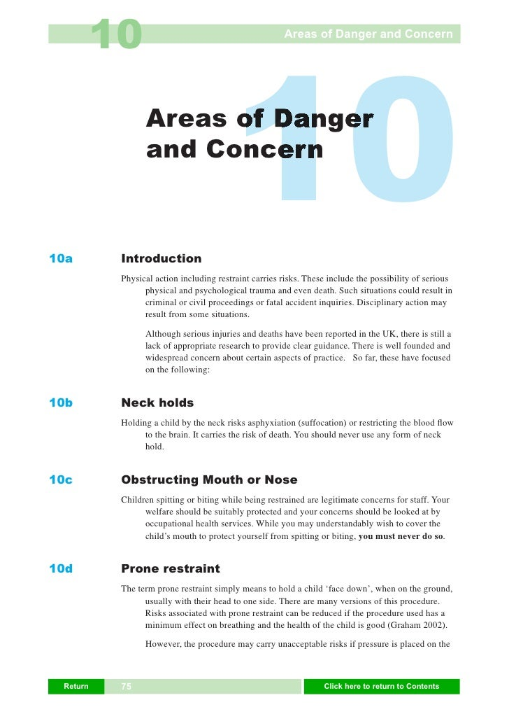 10                                           Areas of Danger and Concern     10a                  Areas of Danger         ...