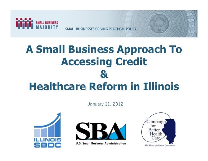A Small Business Approach To      Accessing Credit             &Healthcare Reform in Illinois           January 11, 2012