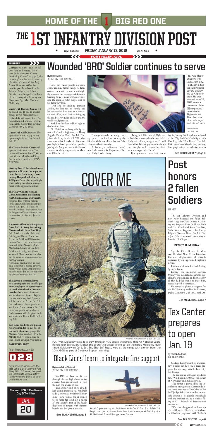 The 1st infantry Division Post 13 Jan Edition