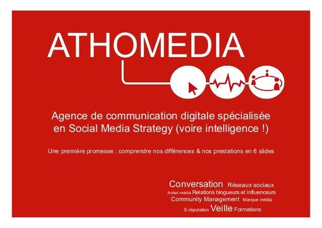 Conversation Réseaux sociaux Achat média Relations blogueurs et influenceurs Community Management Marque média E-réputatio...