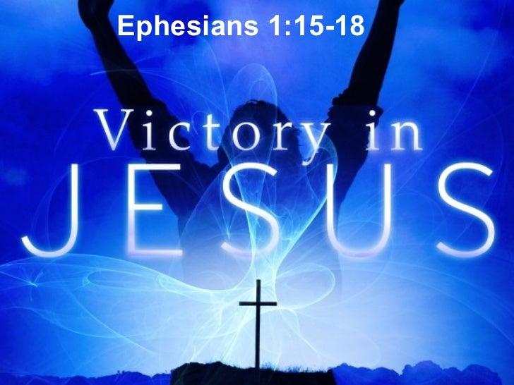Ephesians 1:15-18