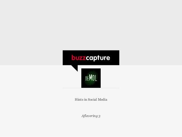 Wie is de Mol afvaller ontdekt dankzij online monitoringtool Buzzcapture (week 3)
