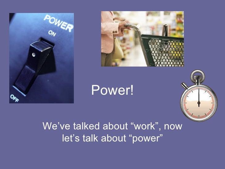 01-25-08 - Intro To Power