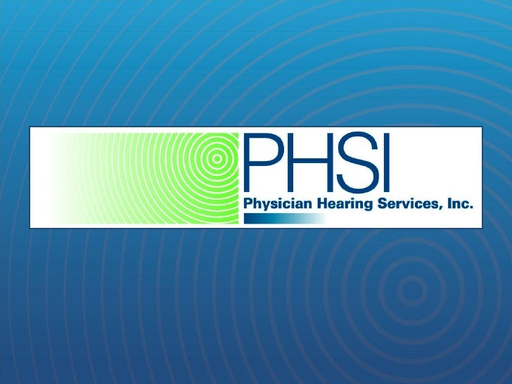 PHSI Hearing Programs in Ophthalmology