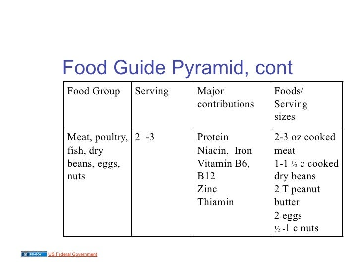 Food Guide Pyramid Cont Food