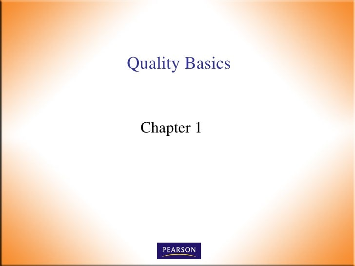 Quality Basics Chapter 1