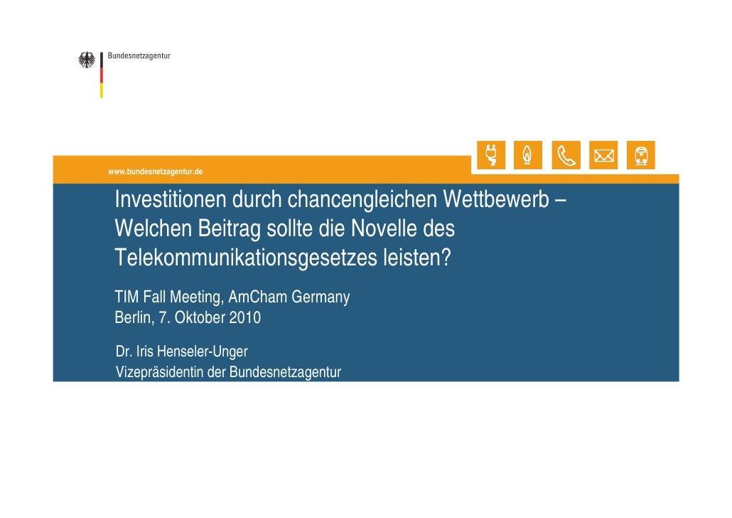 Dr. Henseler-Unger (Bundesnetzagentur) zur TKG-Novelle