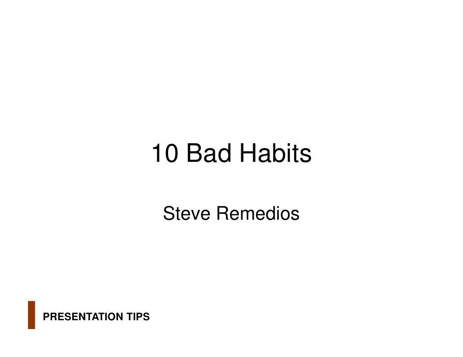 015   10 bad presentation habits