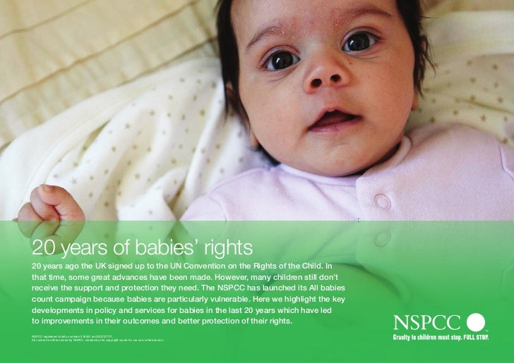 20 years of babies' rights20 years ago the UK signed up to the UN Convention on the Rights of the Child. Inthat time, some...