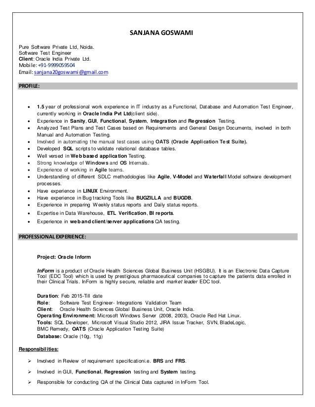 sanjana resume