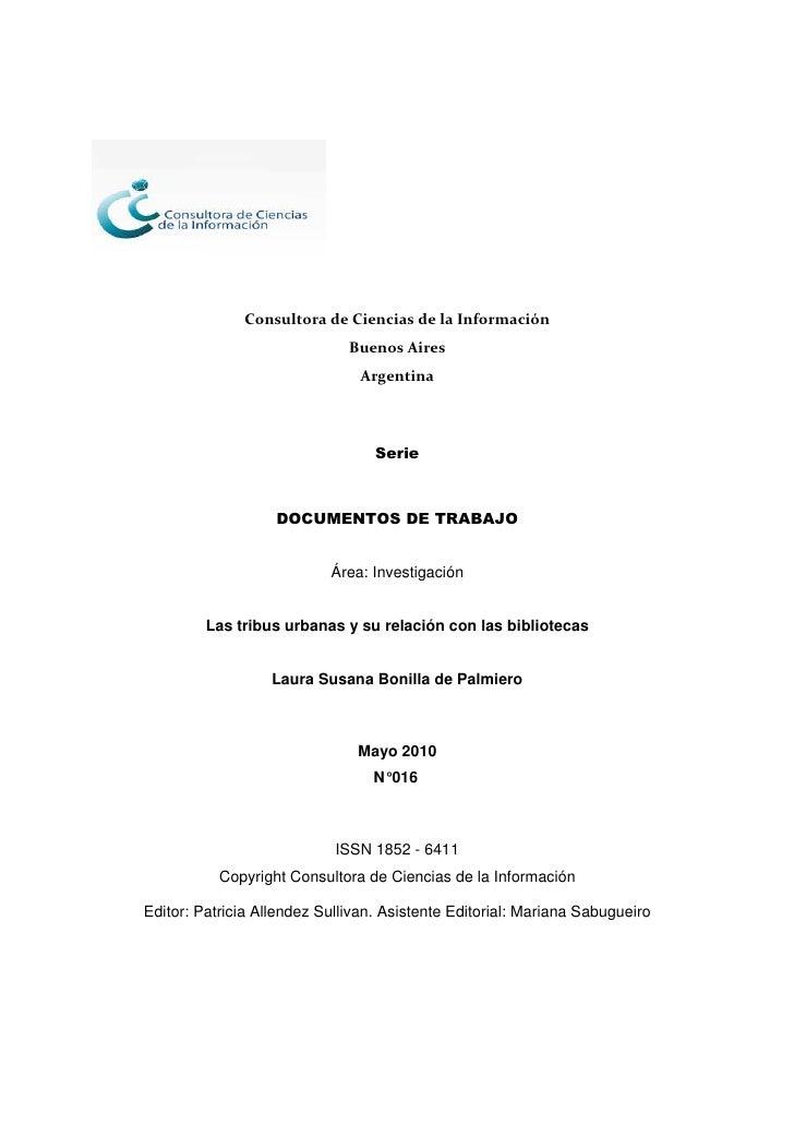 Consultora de Ciencias de la Información                               Buenos Aires                                 Argent...