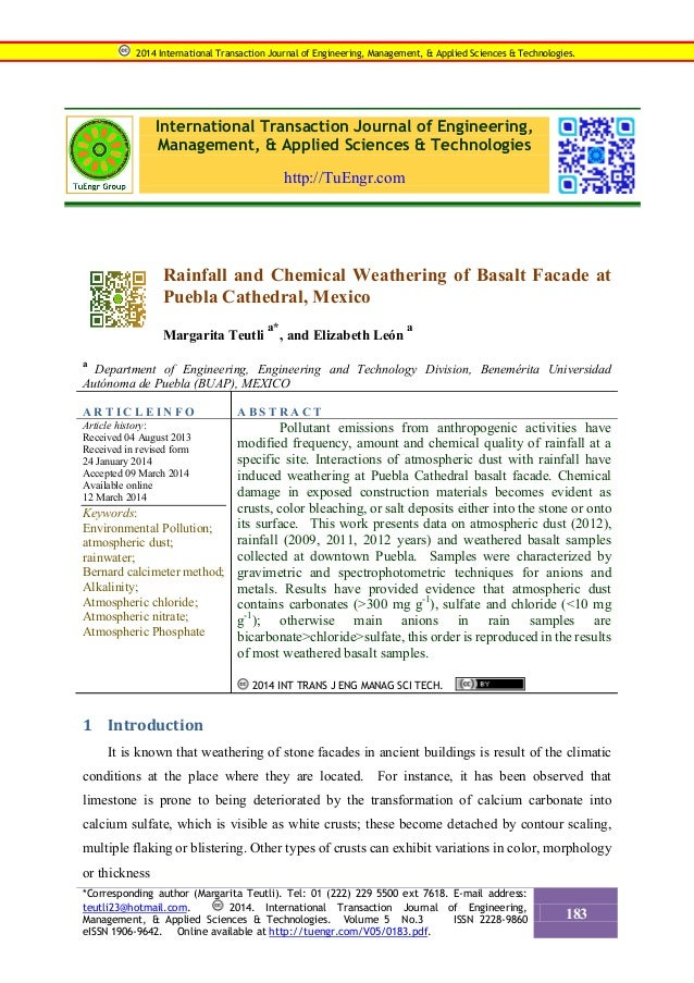 International Transaction Journal of Engineering, Management, & Applied Sciences & Technologies http://TuEngr.com Rainfall...