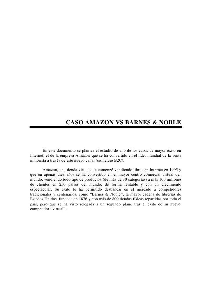 01a   Caso Amazon Vs Barnes & Noble   Planteamiento