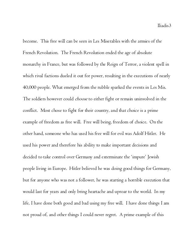 essay about freedom in life