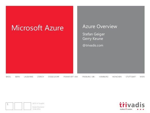 Session 1: Einführung in Windows Azure