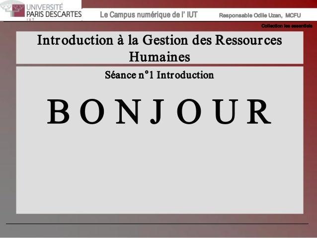 Collectionlesessentiels Institut Universitaire de Technologie / Campus numériqueInstitut Universitaire de Technologie /...