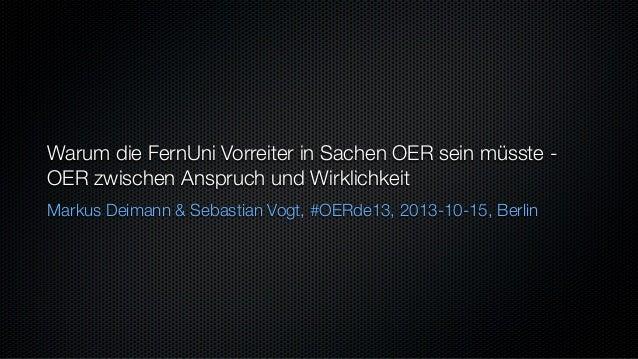 OER und FernUniversität in Hagen